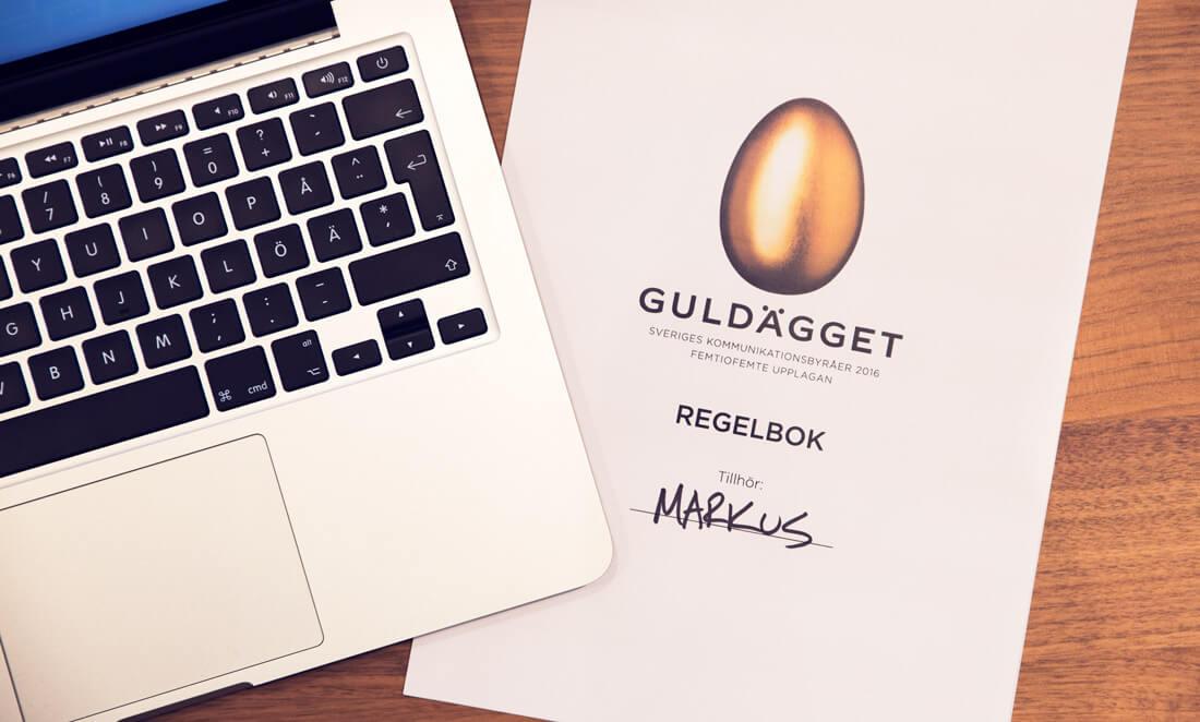 Markus reklambyrå tar plats i Guldäggsjuryn